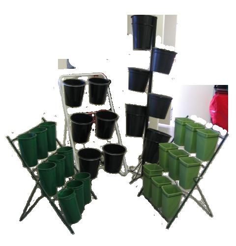 Buckets and display units